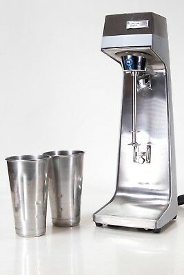 Hamilton Beach Scovill 936-2 Commerical 3 Speed Drink Milkshake Mixer W/ 2 Cups