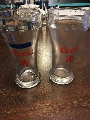 VINTAGE COORS DRAFT GLASSES from A Bar That Closed In The 80s 2 Pieces