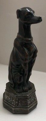 Art Deco Sitting Greyhound Dog Bronze Sculpture Statue, Tabletop and Immaculate