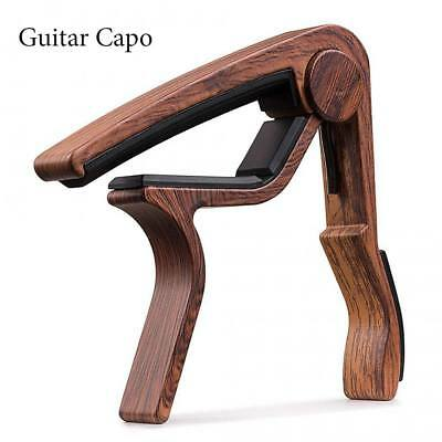 Premium Guitar Capo Wood Quick Change Trigger Clamp for Acoustic & Electric Gift