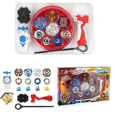 4D Beyblade Burst Top Fusion Metal Master Fight Rapidity Rare Launcher Set Toy