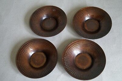 Japanese Pure Copper TEA CUP TRAY Saucer Chataku 4pcs