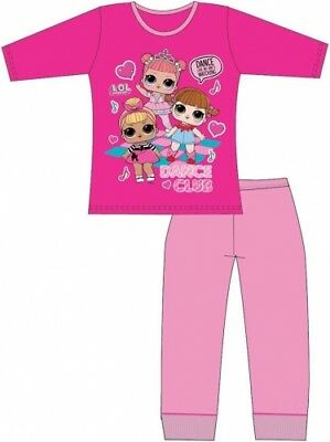 Girls LOL Surprise Pjs Long Sleeve Kids Dance Club Character Pyjamas Age 4-10