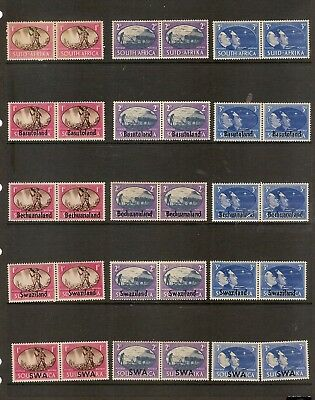 Stamps British African Colonies Sets of 1945 Peace Stamps