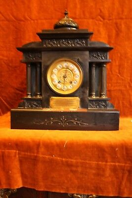 Dale Forty, commemorative Edwardian mantle clock made of marble, 8 day movement