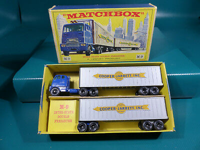 1960's Matchbox Lesney Major Pack M-9 Inter State Double Freighter in Box