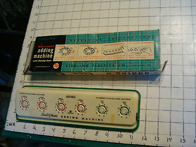 Vintage Sterling dial-a-matic ADDING MACHINE IN BOX, missing stylus