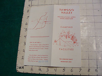 Vintage Clean Brochure: YAWGOO VALLEY recreation area CAMPING 1970