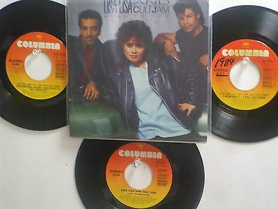 LOT OF 4 'LISA LISA & CULT JAM' HIT45's+ 1PS[Head To Toe]  THE 80's!