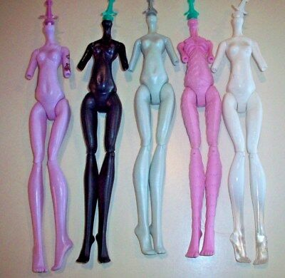 Monster High Doll Replacement Parts ~ Lot C - Assorted Bodies x 5