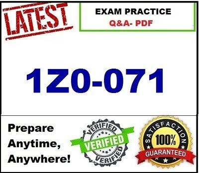 BEST Exam Practice Q&A for 1Z0-071