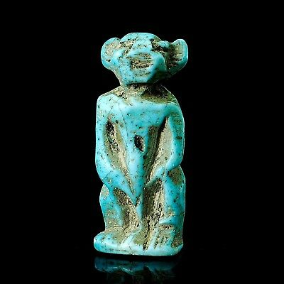 Authentic! Ancient Egyptian faience Babi, Baba Monke baboo God Amulet Pendant