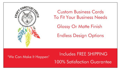 2500 Custom Full Color Double Sided Business Cards + Free Design Free Shipping