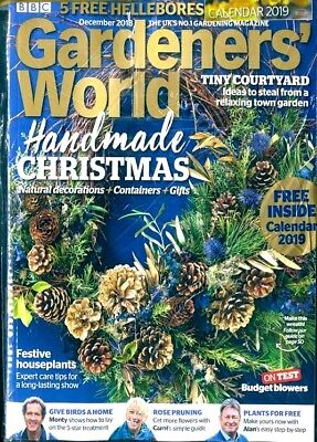 Bbc Gardeners World Magazine December 2018 With 2019 Calendar ~ New  ~