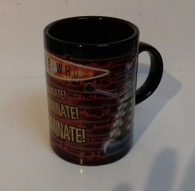 DOCTOR WHO - Dalek Exterminate Coffee Mug Ceramic Cup Electronic 2004 BBC Cup