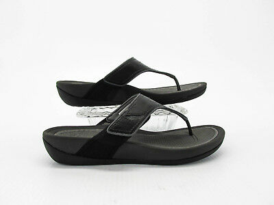 9e62605c24cc5 Dansko Katy 2 Women Black Thong Sandal Shoes Size US 9.5M EUR 41 Pre Owned