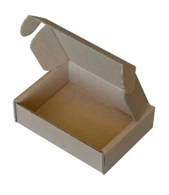 10 Brown Cut Folding Lid Postal Cardboard Boxes Small Royal Mail Shipping Parcel