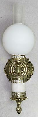 Vintage Thomas Industries Wall Light Sconce - Brass - Globe Chimney - Wired