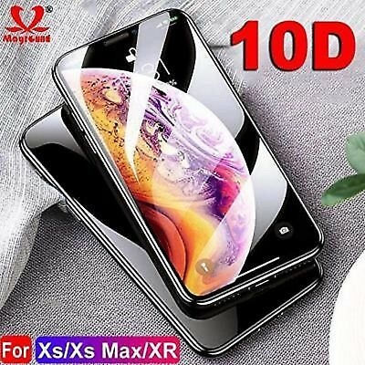 10D Full Body Cover Real Tempered Glass Screen Protector For iPhone X,XS,XS Max