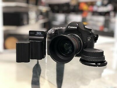 Canon EOS 5D Mark I DS126091 Digital SLR Camera With Lens 12.8MP *2 BATTERIES*