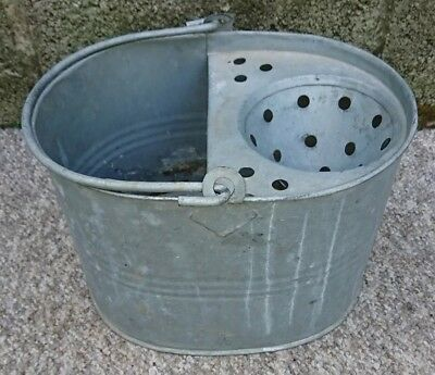 Traditional Galvanised Steel Mop Bucket