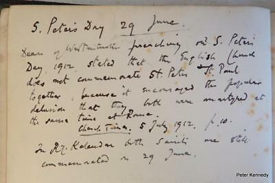 1895 Norwich 'church St Peter Of Mancroft' Author's Copy With His Letters Notes