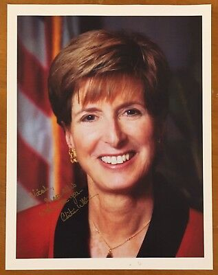 """CHRISTINE TODD WHITMAN, 100% AUTHENTIC AUTOGRAPHED 8 1/2"""" x 11"""" PHOTO, GOVERNOR"""