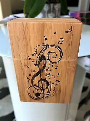 Cigarette Pack Holder Wooden Hand Crafted Musical Note design