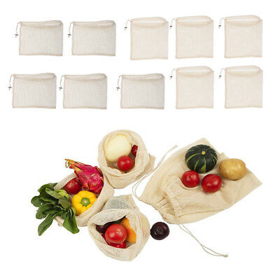 10pcs Reusable Produce Bags Mesh Bags for Grocery Vegetable Storage