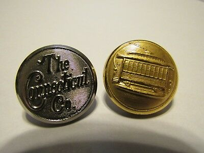 Vintage Trolley Conductor's Buttons, Connecticut Company, Waterbury Button Co.
