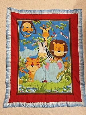 Handmade Animals/US Marines Crib Bedding Quilt
