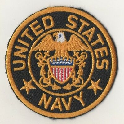 Military style Embroidered Iron or Sew on Patch Fancy Dress Navy <> POST FREE <>