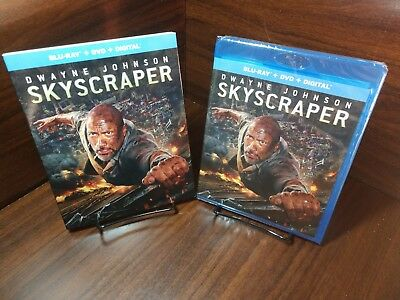 SKYSCRAPER (Blu-ray+DVD+Digital)Slipcover-NEW-Free First Class S&H with Tracking