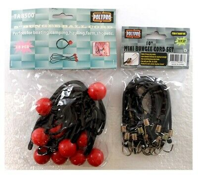 ToolUSA  Polypro Mini Bungee Cords And Bungee Ball Cords Assortment: KIT-TA8500
