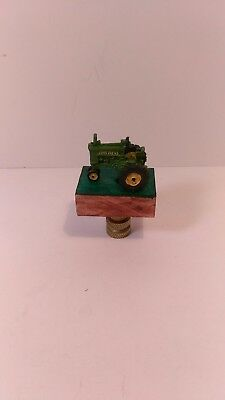 John Deere Tractor Lamp Finial Handmade One of a Kind