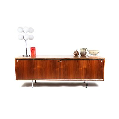 George Nelson for Herman Miller Walnut Executive Office Group Credenza