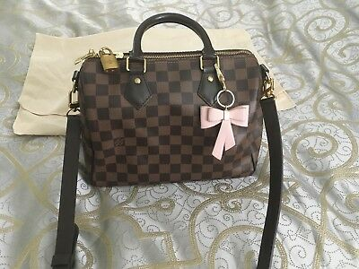 c2d10a2d0eb0 AUTHENTIC LOUIS VUITTON Speedy Bandouliere 25 Damier Ebene -  999.99 ...