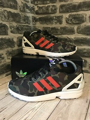 ca33af569fe2c ADIDAS ORIGINALS ZX Flux Trainers UK Size 8 Camo Orange BB2176 - EUR ...