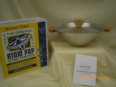 "The Original ""atom Pop"" Corn Popper -  Quincraft Products - Vintage"