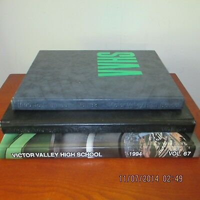 Collection Victor Valley High School Yearbooks- Lot Of 3- 1990- 1994- Fun Stuff!