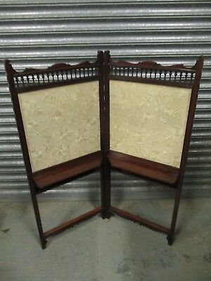 An Edwardian 20th Century Mahogany and Silk Screen Divider Fire Wooden Fine