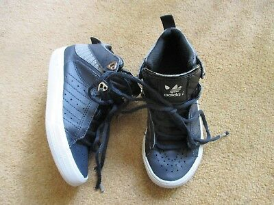 check out 21da6 30183 Boys Adidas High Top Blue Trainers Infant Size Uk 11