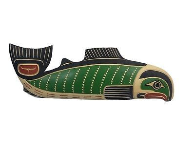 Northwest Coast Native American Salmon Plaque (EB-105-G1807) U10-RM2