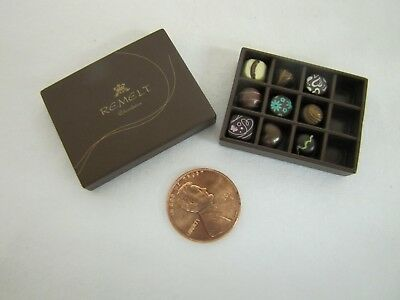 New! Dollhouse Miniature CHOCOLATE CHOCOLATES in BOX Re-ment Set for BARBIE