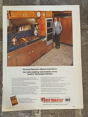 1974 print ad-Richard Deacon for Thermador Built-In Kitchens