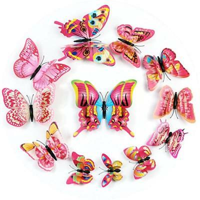 36 Pack 3D Double Wing DIY Butterfly Wall Decoration Stickers Mural Stickers