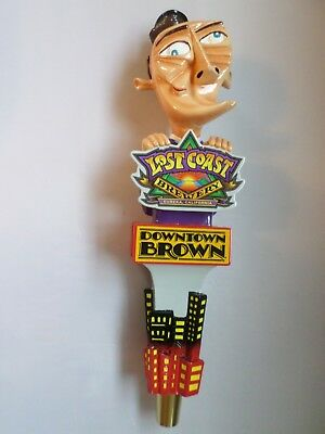 """Large New Style Downtown Brown Lost Coast Beauty 11.5"""" Beer Keg Tap Handle"""