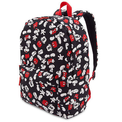 DISNEY Store MICKEY MOUSE Book bag Backpack for Adults BLACK w  Red Handle  NWT a991d33d03240