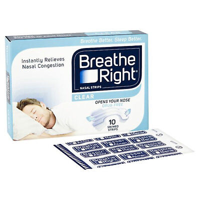 Breathe Right Drug-Free Snoring and Congestion Relief 10 Orijinal Nasal Strips