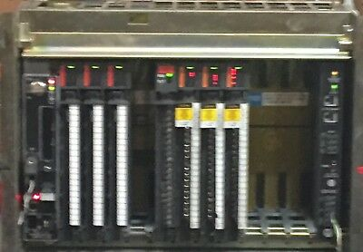 Allen Bradley 1771-A3B 12 Slot Chassis With PLC 5/20 Processor, PS and I/O Cards